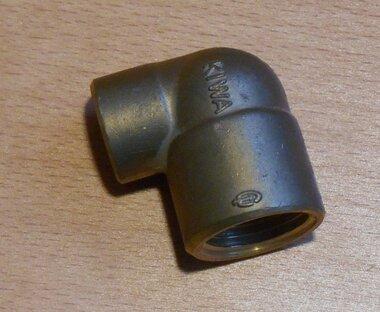 VSH soldeer knie binnendraad 1/2x12 mm conisch Messing