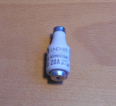 Mersen D-zekering 20A 597.0207 lindner