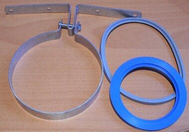 m&G dakdoorvoer beugel 124mm incl. rubber ringen