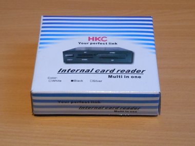 HKC Internal card reader 32 in 1 zwart CR01B