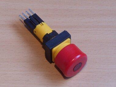 Eaton nood/uit knop rood, verlicht LED 24VDC Q25LPV