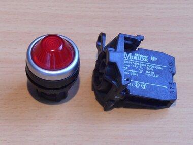 Moeller EF signaal lamp fitting met houder en kap rood