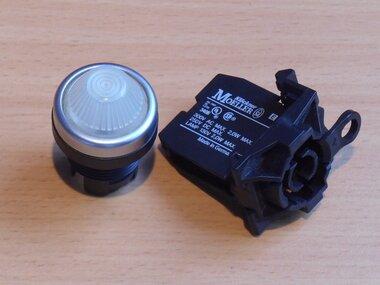 Moeller EF signaal lamp fitting met houder en kap wit