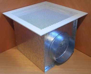 Barcol-Air geperforeerde plafondrooster met box pes 0104-812 PESO1O408120004