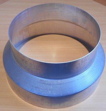 aluminium rookgas afvoer verloopstuk 200 x 250 mm