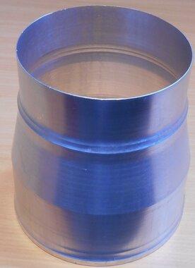 Aluminium rookgas afvoer verloopstuk 130 x 150 mm