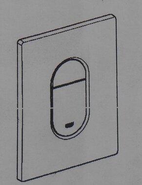 Grohe Arena Cosmopolitan wc bedieningsplaat dual flush verticaal chroom 38844000