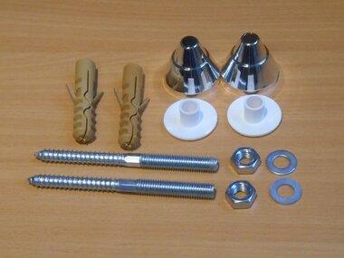 Brava bevestigingsset voor urinoir chroom 8903490008911
