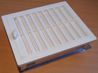 Upmann ventilatierooster verstelbaar inbouwframe 150x200mm 50146 wit