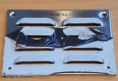 Pascal RVS schoepenrooster 130x90mm