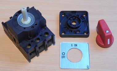 Eaton Moeller Aan uit schakelaar 3p 32A inbouw P1-32/E rood
