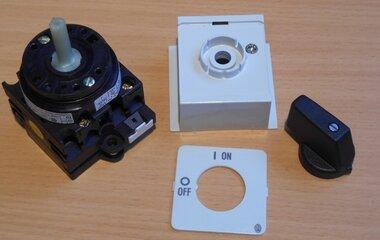 Eaton Moeller Aan uit schakelaar T0-1-102-IVS 2p 12A incl. behuizing 45x45mm