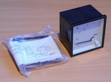 Faget Amperemeter paneelbouw DIV72 0-5A meter