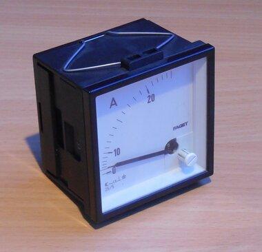Faget Amperemeter paneelbouw 5-25A meter