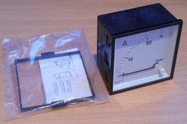 Faget Amperemeter paneelbouw 3EIV96 5-100A meter