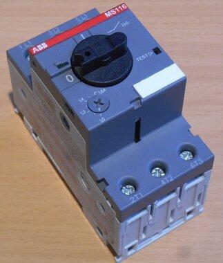 ABB Motorbeveiligingsschakelaar MS116-1.6 1-1,6A
