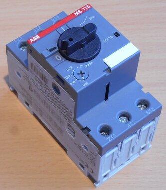 ABB Motorbeveiligingsschakelaar MS116 0,25 230-690V 0,16-0,25A 3P