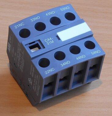 ABB Hulpcontact frontmontage 4blok 3NO+1NC tbv magneetschakelaar AF09, AF16 SBN010140R1131