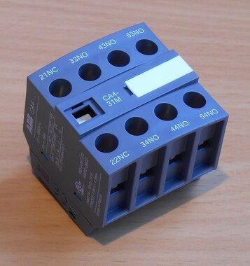 Abb Hulpcontactblok CA4-31M 3NO+1NC
