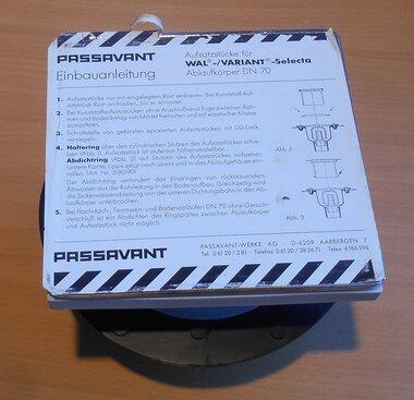 Passavant DN 70 opzetstuk Drain lichaam Wal Variant Selecta 5141.81.00