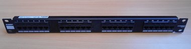AMP T568B patch panel 24 port netconnect CAT 5, 557870