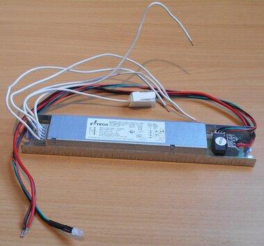 E-Tech Elunit LED S 50V/3W/1h/4SC noodunit, 4,8V 1.8Ah accu, incl. bekabeling