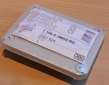 OBO T100 D 2MSD RO Deksel T100 2x stopcontact 150x116x40