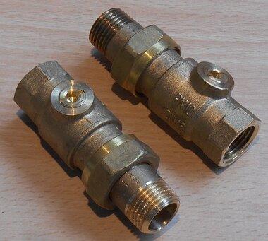 Danfoss 003Z1027 Kogelafsluiter recht DN15 G1/2 X RP 1/2