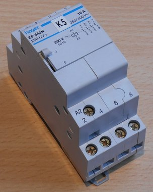 Hager EP540N Magneetschakelaar 230V 4NO 16A 2369775