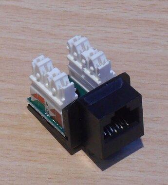 Brand-Rex Cat6 Plus C6CJAKU012 Socket Module RJ45