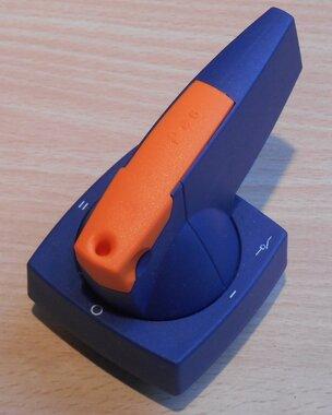EATON K1D K6D Doorvoering met Standengrendeling Blauw incl slot