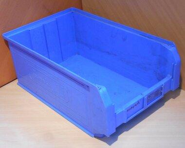 Fami 4-PL Kunststof stapelbak magazijnbak 500/450x300x200 blauw