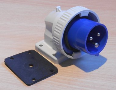 Walther 619306 gemonteerde CEE stekker 16A 3P (2P+E) 200-250V 6h IP67