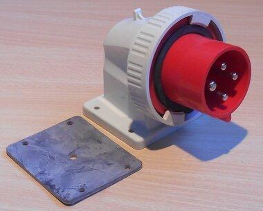 Walther 639403 gemonteerde CEE stekker stekker 32A 4P (3P+E) 380-440V 3h IP67