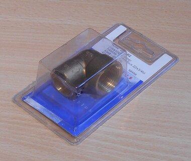 Waterklus wk 162 soldeerknie messing 22x3/4