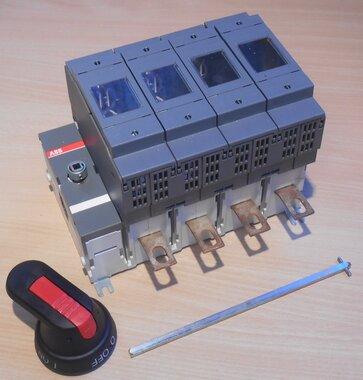 ABB 1SCA022709R9680 Veilighedenlastscheider 4P, 200A, incl. handgreep en as