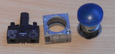 Siemens 3SB3400-1PD Signaallamp LED compleet, blauw
