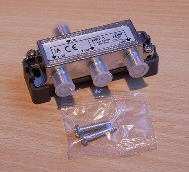 Astro HFT 3 F-splitter 3 weg 5 - 1200 MHz 408030