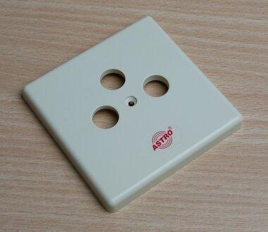Astro GUZ 43 Afdekraam 3V Cremewit/elektrowit IP20 610410 (10 stuks)