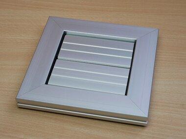 Ivana IVA000943 overdrukrooster aluminium 165x165 mm aansluiting 100 mm