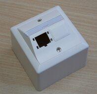 R&M 310786 AP lobal Outlet 80x80, 2x1-Port wit