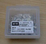TE 1-1377172-8 Aansluitpunten M8 6.6 - 10.5 mm2 (50 stuks)