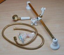 Feliu boet 6860 Elegance douchekit met verstelbare handgreep goud/wit retro